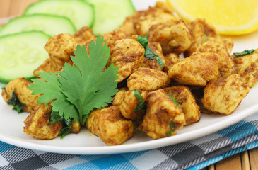 Spicy chicken with fresh coriander