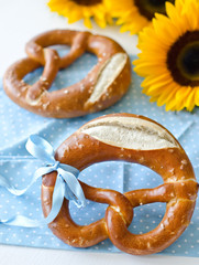 Pretzel with sunflowers