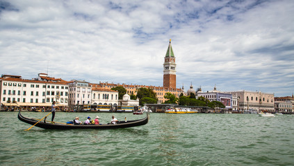 Beautiful view on Grand canal in Venice
