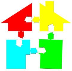 logo maison puzzle