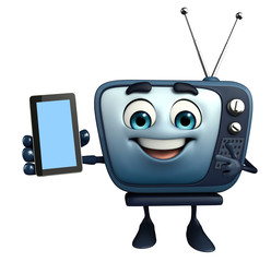TV character with mobile