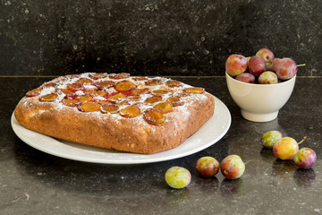 Home made plum cake