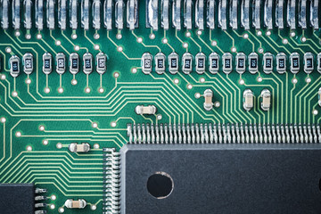 processor and circuit board closeup