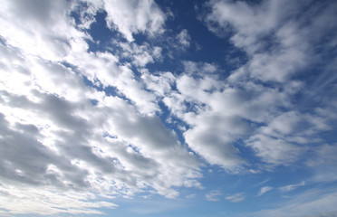Clouds and the sky