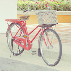 red bike old retro vintage style