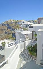 santorini fira - white houses
