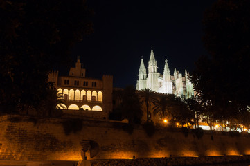Real Almudaina Palace and Cathedral in Palma de Mallorca, Balear