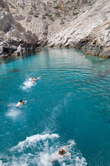 Bagno in mare grecia