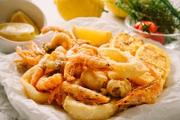 Mixed frid fish