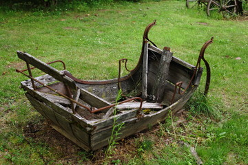 Old abandoned sled