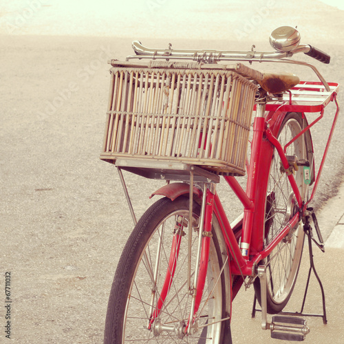 Foto op Aluminium Retro red bike old retro vintage style
