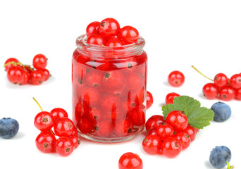 Delicious raw fresh red currant berries