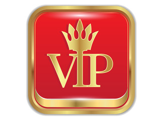 Golden icon  VIP.vector