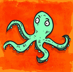 cartoon octopus illustration