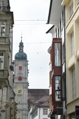 street to Saint Gallen church