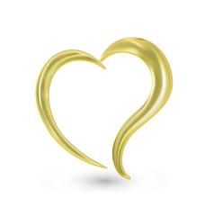 Heart Swoosh valentines logo icon vector
