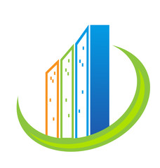 Real estate modern buildings logo vector