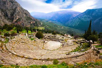 The view on amphitheater, Delphi