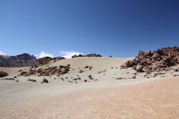 Tenerife, paysage lunaire au pied du Teide