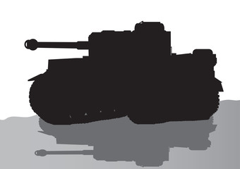 vector silhouette of the tank