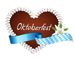 Lebkuchenherz mit Banderole - Oktoberfest