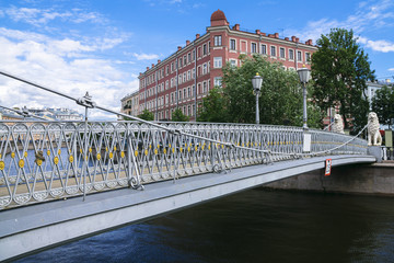 pedestrian bridge in St. Petersburg, Russia