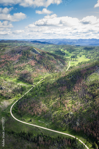 Leinwandbild Motiv aerial view of the black hills