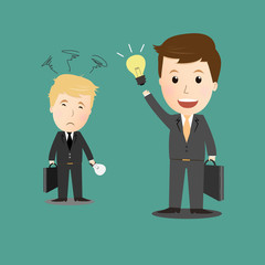 Vector of Businessman give his idea
