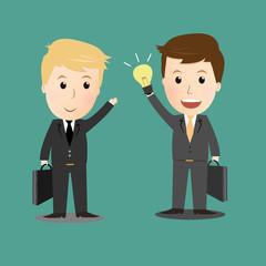 Vector of Businessman have no idea with businessman get idea