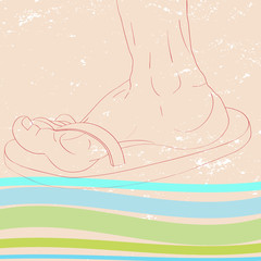 slippers profile sketch