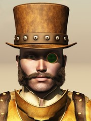 Steampunk male portrait