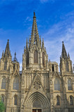 The Cathedral of the Holy Cross  in Barcelona. - 67715288