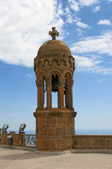 Bell tower on top of Tibidabo mountain, Barcelona, Spain