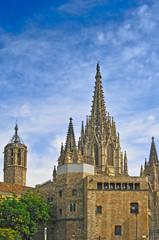 The Cathedral of the Holy Cross  in Barcelona.