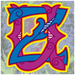 монограмма , U, Z