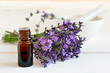 Leinwandbild Motiv Lavender oil