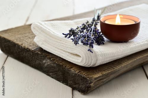 Leinwanddruck Bild Lavender aroma theraphy