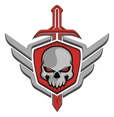Skull wing sword