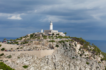 Lighthouse on Cap de Formentor. Majorca island, Spain