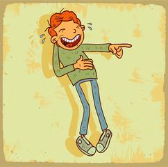 Cartoon laugh illustration