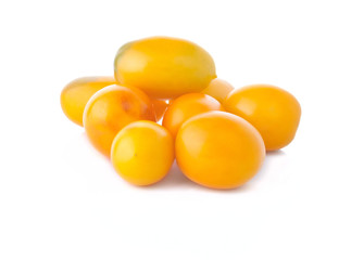 The heap of yellow tomatoes