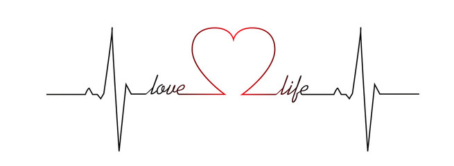 Love life heart beat