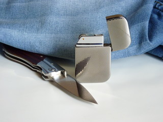 Lighter and Knife folding