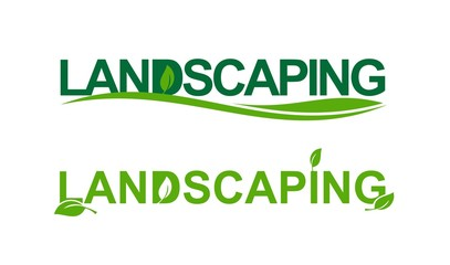 Landscaping in green
