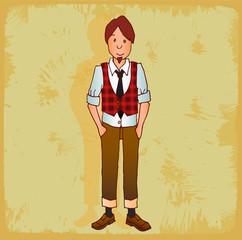 Cartoon hipster  illustration
