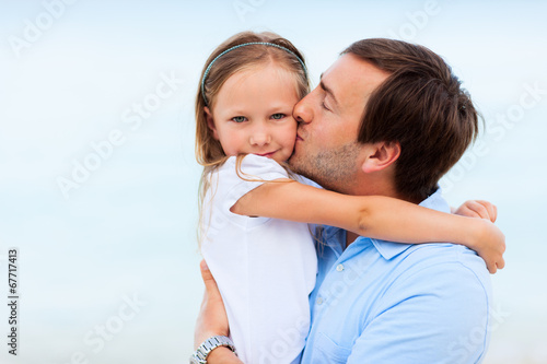 canvas print picture Father and daughter