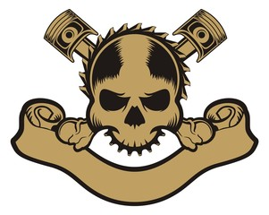 piston skull ribbon