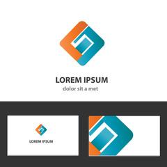 Abstract vector logo design template