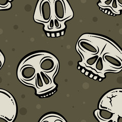 Halloween Skull Background