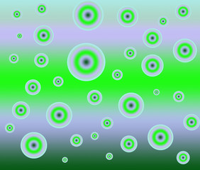 Background with circles on a green gradient